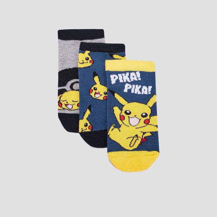 Lot 3 chaussettes Pokémon garçon bleu marine