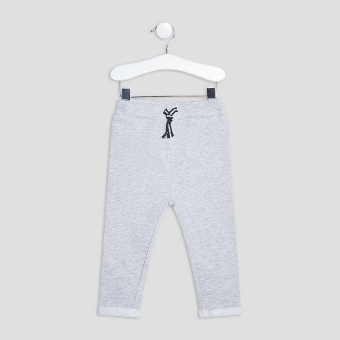 Jogging à ourlets bébé garçon gris