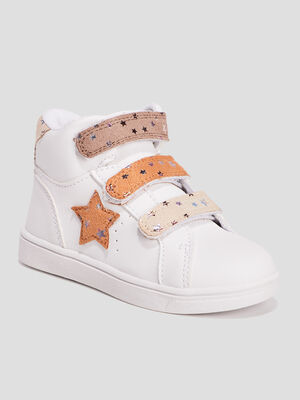 Baskets montantes blanc fille