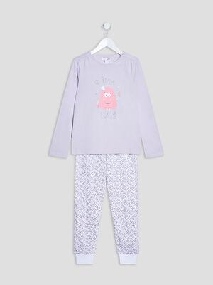 Ensemble pyjama 2 pieces violet fille