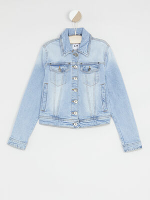 Veste en denim delave denim double stone fille