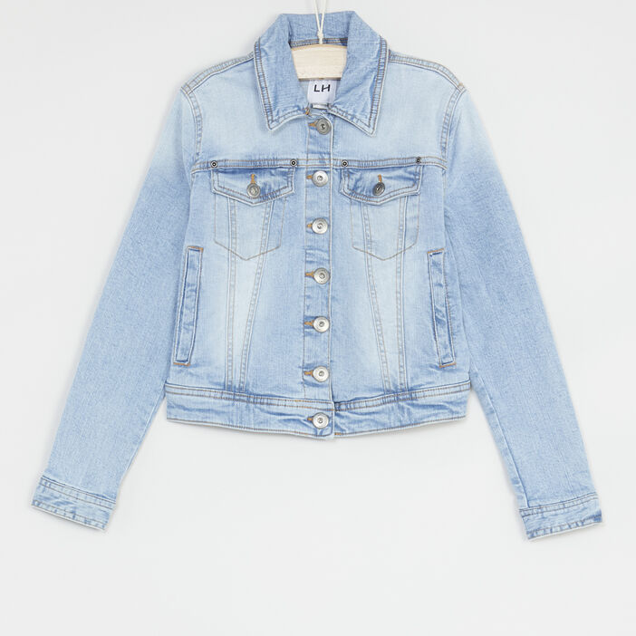 Veste en denim délavé fille denim double stone