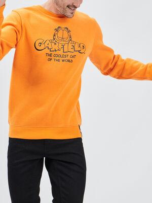 Sweat Garfield orange homme