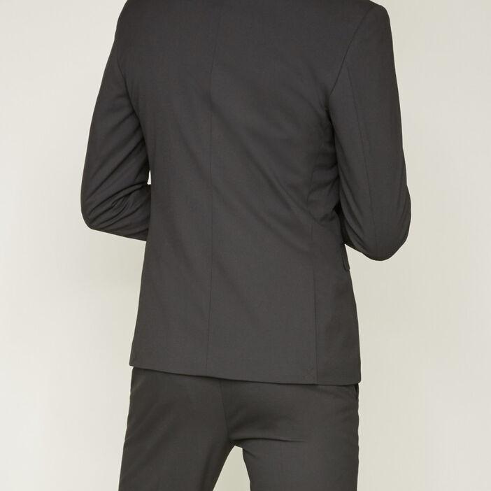 Veste slim boutonnée homme noir