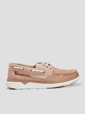 Chaussures bateau Trappeur beige homme