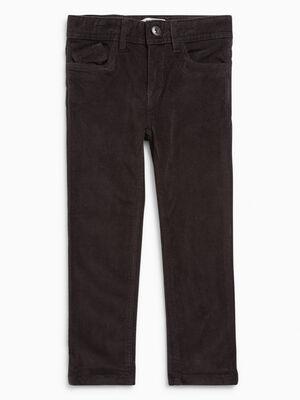 Pantalon slim en velours gris fonc garcon