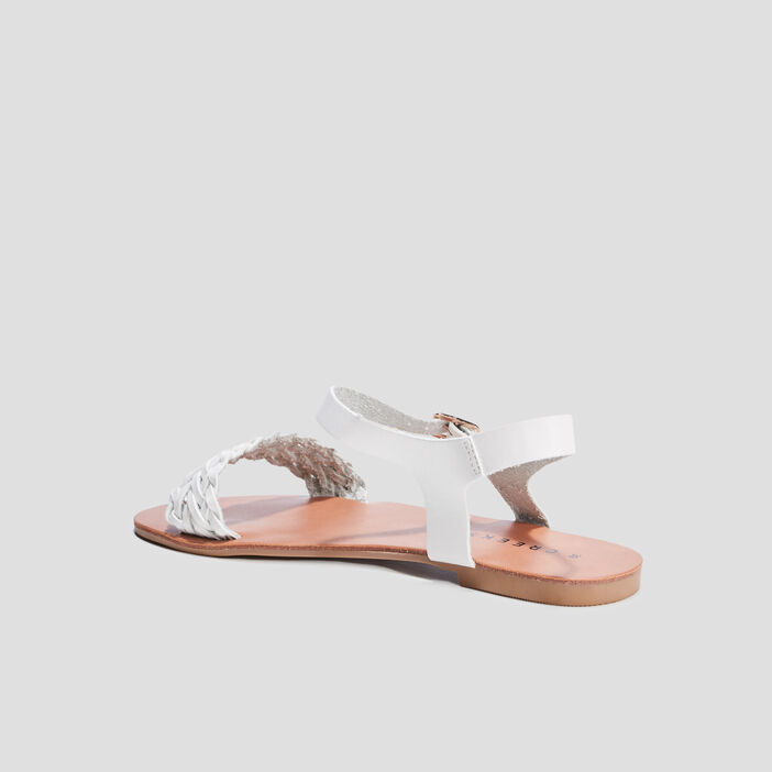 Sandale plates Creeks femme blanc