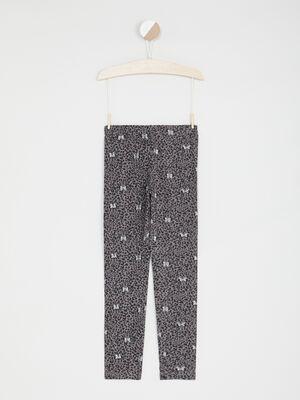 Legging Minnie imprime leopard gris fille