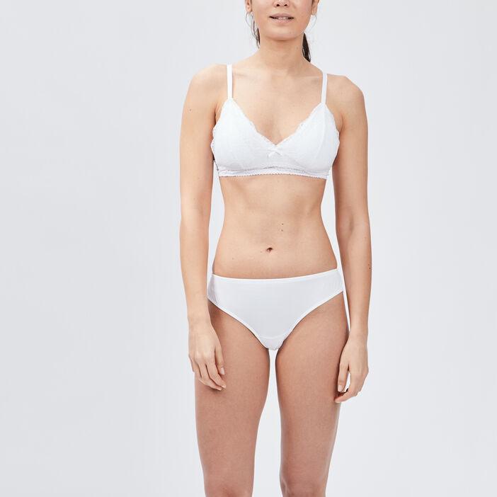 Soutien-gorge triangle dentelle femme blanc