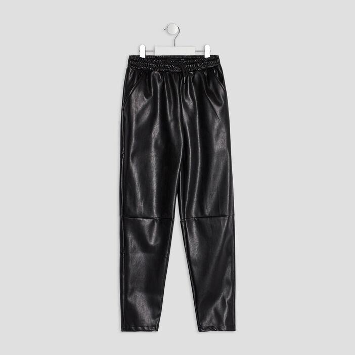 Pantalon droit fille noir