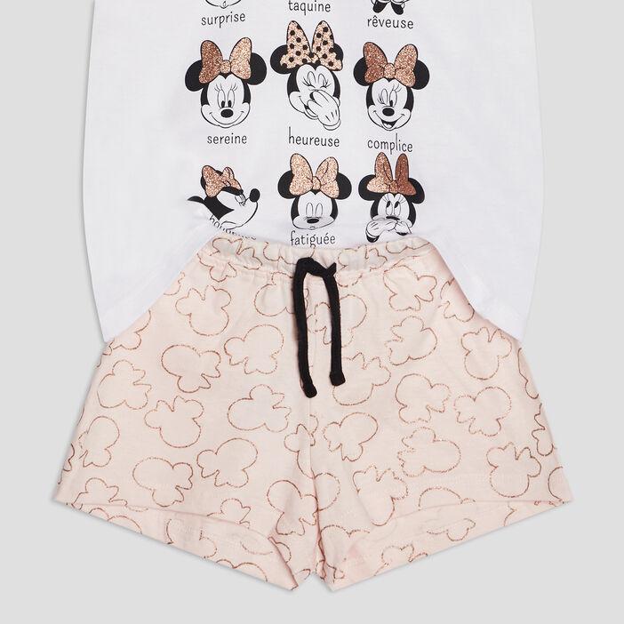 Ensemble pyjama Minnie fille ecru