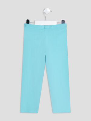 Leggings bleu turquoise fille