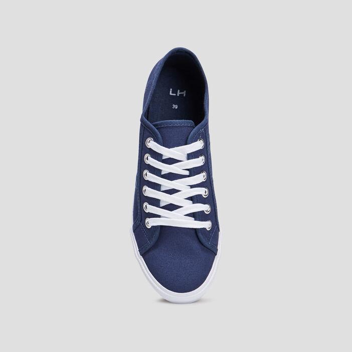 Tennis à lacets femme bleu