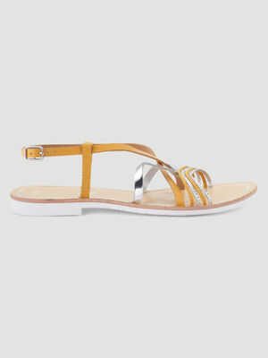 Sandales jaune femme