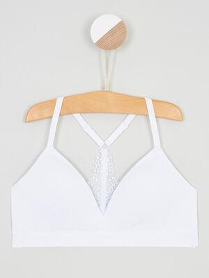 Soutien gorge triangle ampliform blanc fille