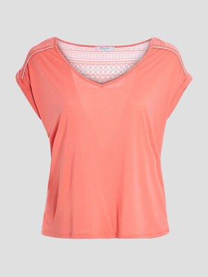 T shirt orange corail femmegt