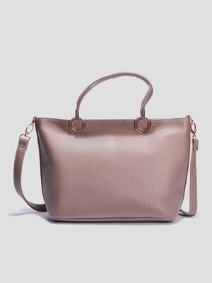Sac trapeze a bandouliere taupe femme