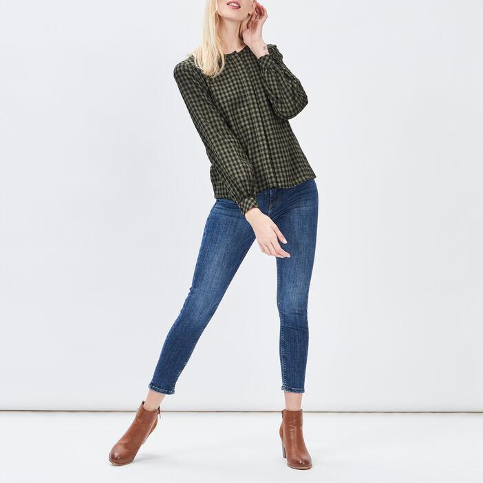 Jeans skinny femme denim double stone