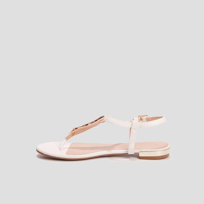 Sandales à entre-doigts Creeks femme blanc