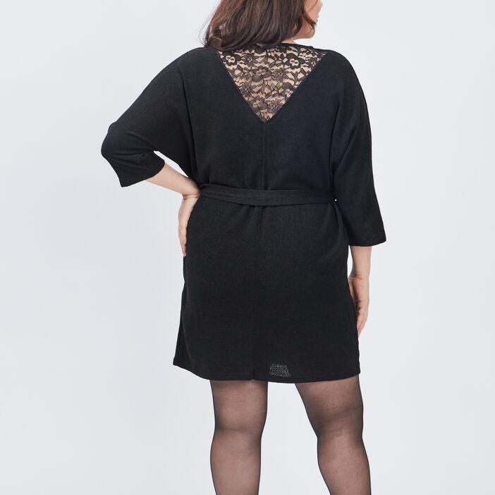 Robe droite grande taille femme grande taille noir