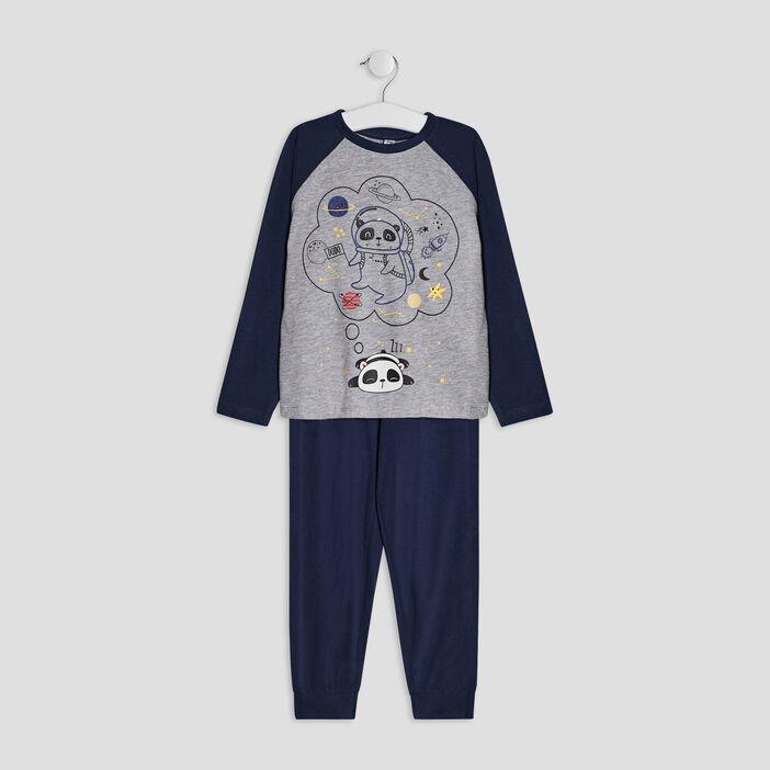 Ensemble pyjama 2 pièces garçon bleu marine