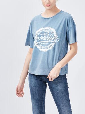 T shirt manches courtes Creeks bleu femme