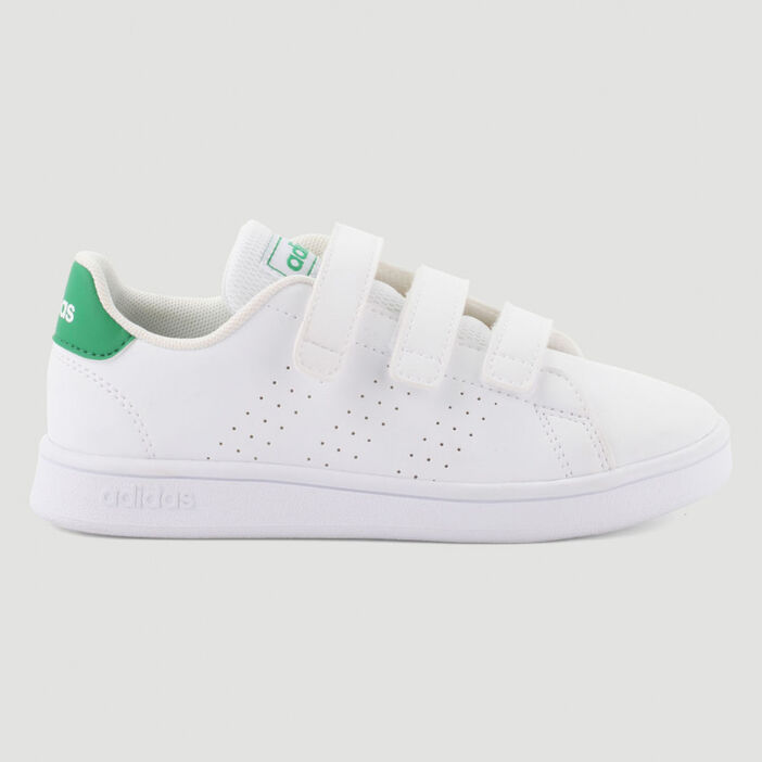 Tennis Adidas ADVANTAGE I garçon blanc