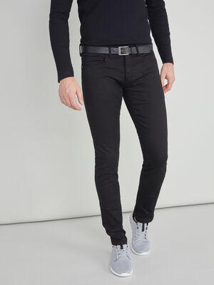 Pantalon slim 5 poches noir homme