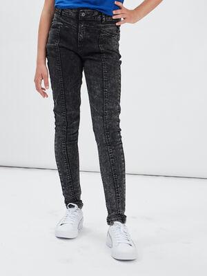 Jeans skinny taille ajustable Liberto denim snow gris fille