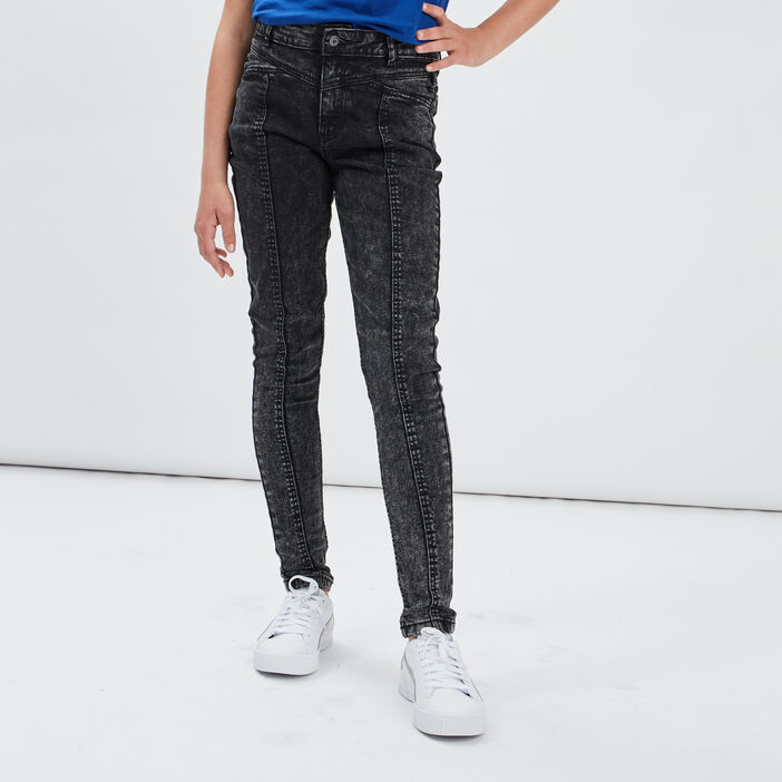 Jeans skinny taille ajustable Liberto fille denim snow gris