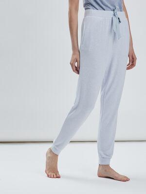 Bas de pyjama bleu lavande femme