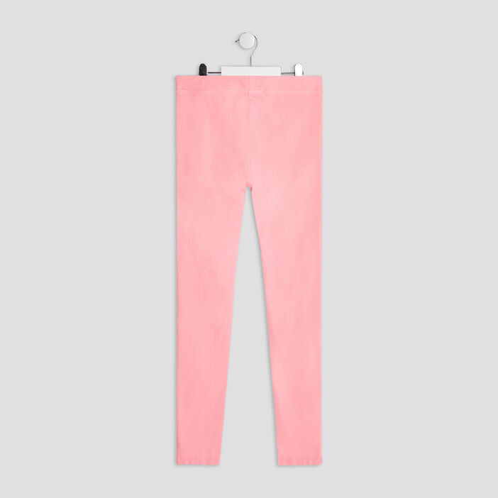 Pantalon tregging fille rose fluo
