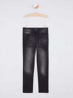 jean skinny zippe noir garcon