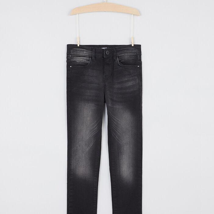 jean skinny zippé garçon noir