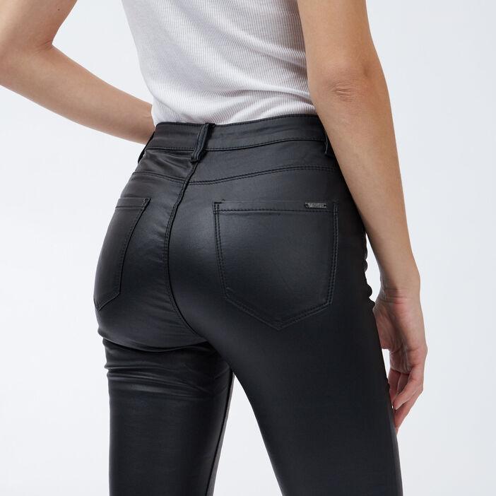 Pantalon skinny taille basse femme noir