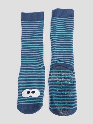 Chaussettes bleu mixte
