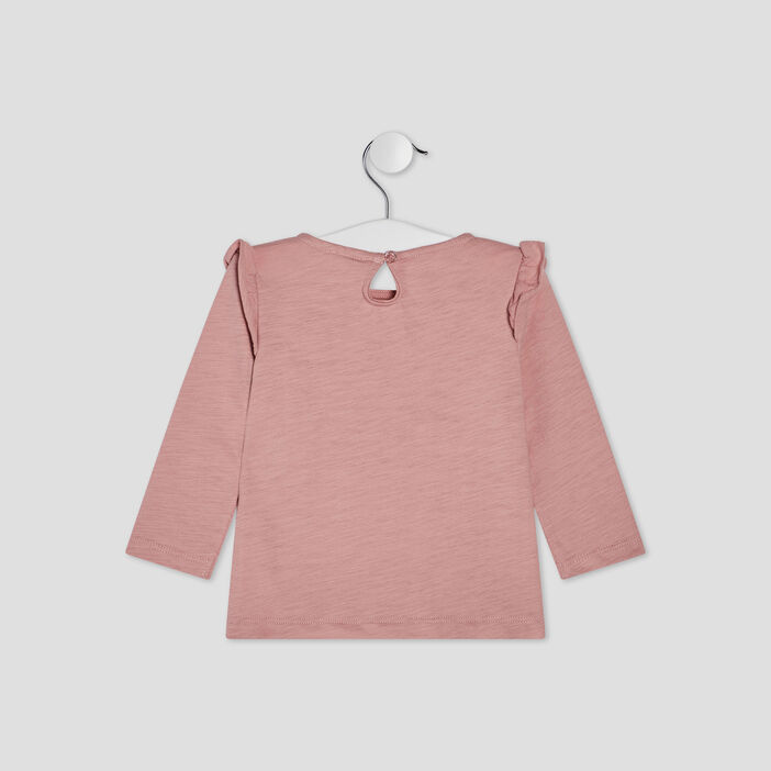 T-shirt manches longues Creeks bébé fille rose