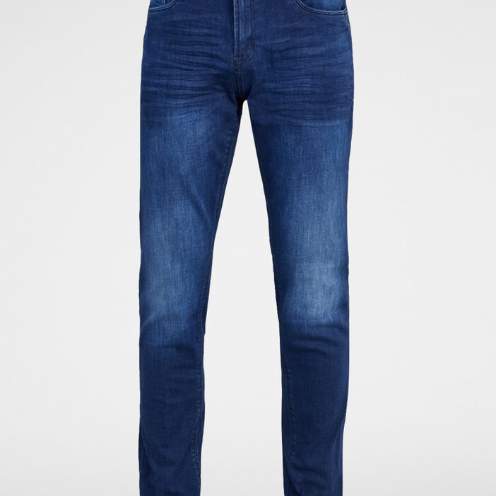 Jeans straight Creeks homme denim blue black