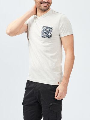 T shirt Trappeur beige homme