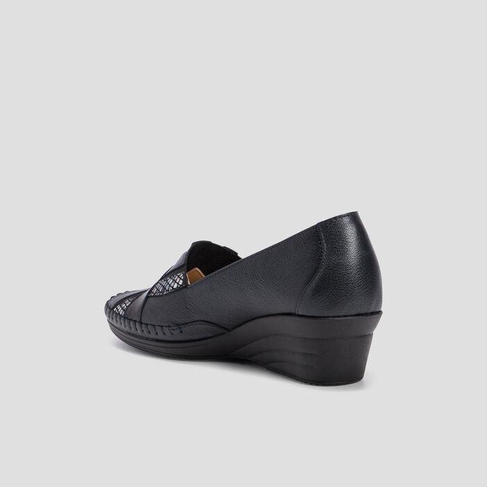 Chaussure sans lacets femme noir