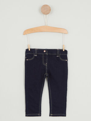 Jean slim effet use denim brut fille