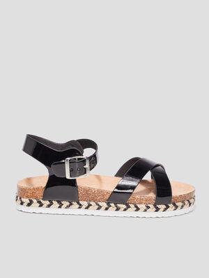 Sandales crantees Creeks noir fille
