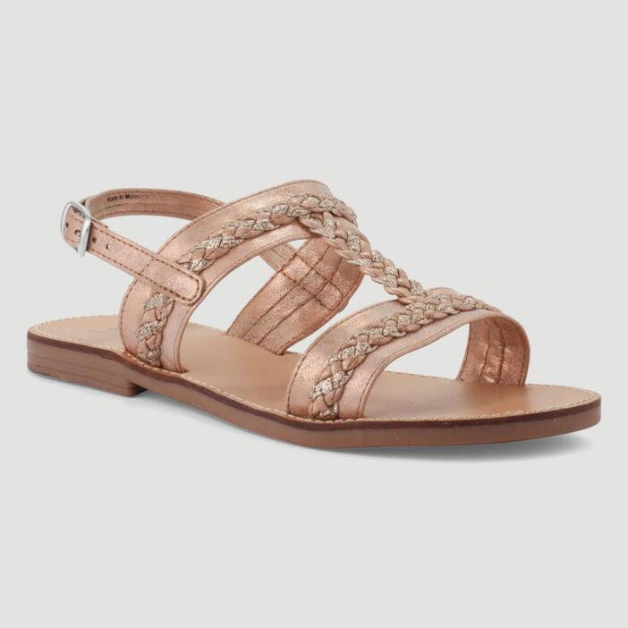 Sandales à détails tressés fille sable