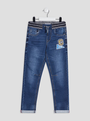 Jeans straight Creeks denim stone garcon