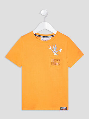 T shirt Bugs Bunny orange garcon