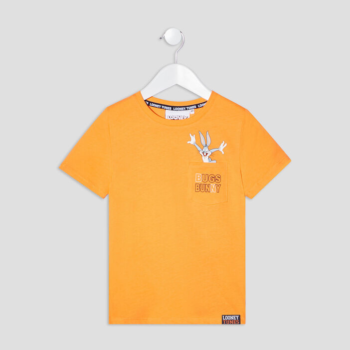 T-shirt Bugs Bunny garçon orange
