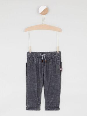 Pantalon elastique a poches gris bebeg