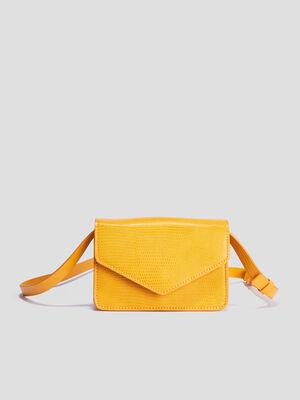 Sac ceinture texture jaune femme