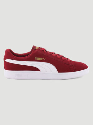Tennis cuir Puma SMASH V2 bordeaux homme