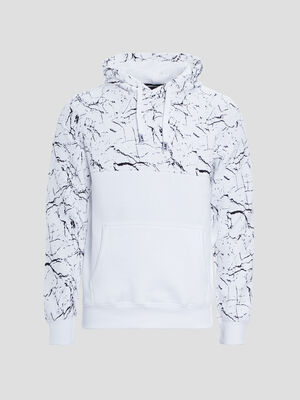 Sweat a capuche Liberto blanc homme
